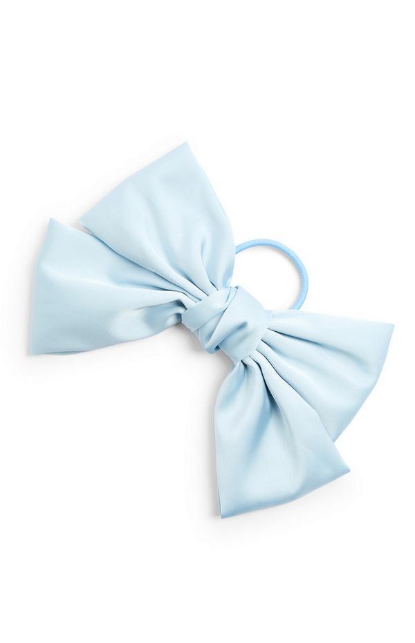 Lazo de raso azul extragrande