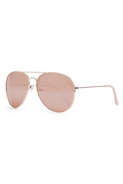 Blush Pink Classic Aviator Sunglasses