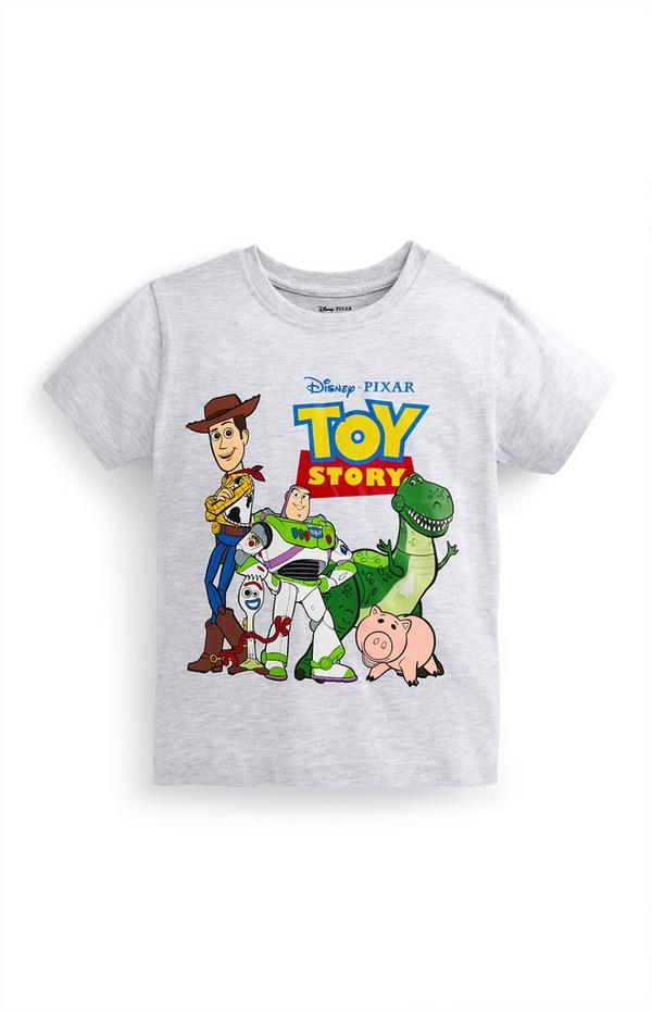 Camiseta gris con estampado de Toy Story para niño pequeño