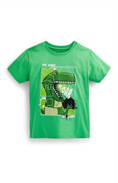 T-shirt vert Toy Story Rex garçon