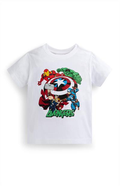 Younger Boy White Marvel T-Shirt