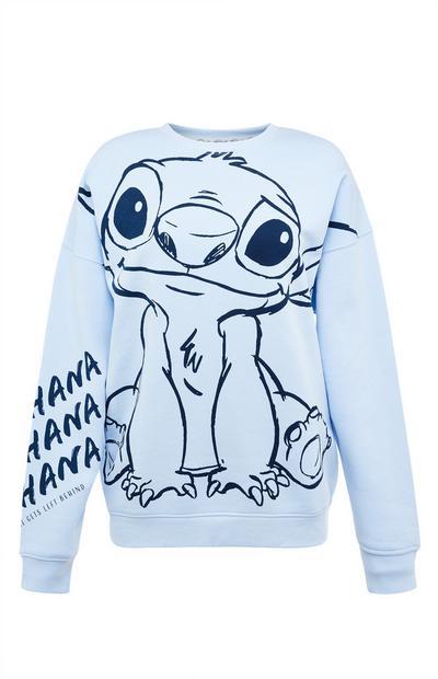 Sweat-shirt oversize bleu Disney Lilo et Stitch