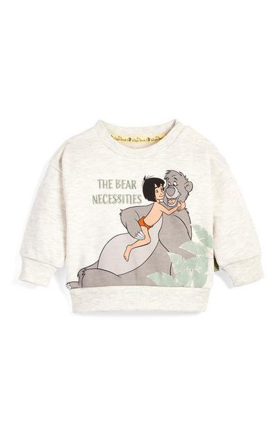 Bež pulover z okroglim ovratnikom za dojenčke Knjiga o džungli