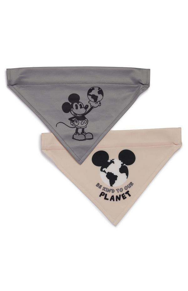 Lot de 2bandanas Mickey Mouse pour animal de compagnie Primark Cares Disney