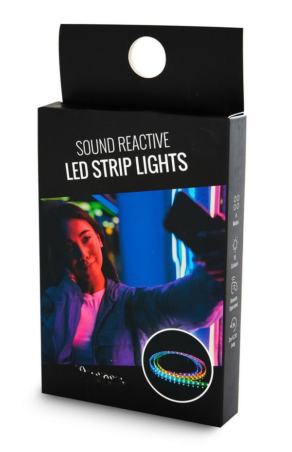 Corrente luzes LED reativas som