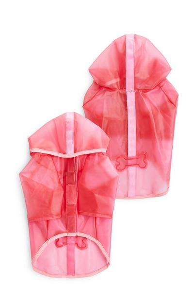 Roze regenjas voor huisdier