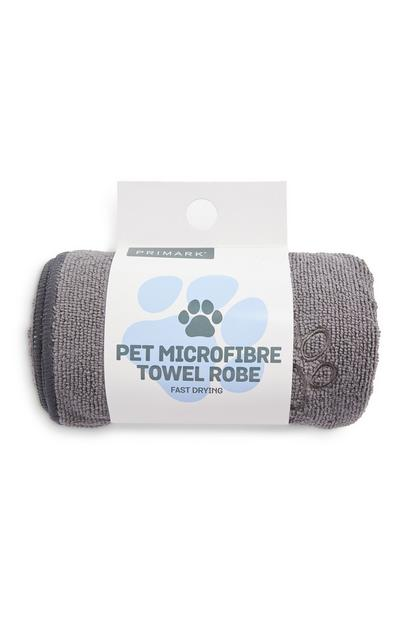 Grey Pet Microfiber Robe