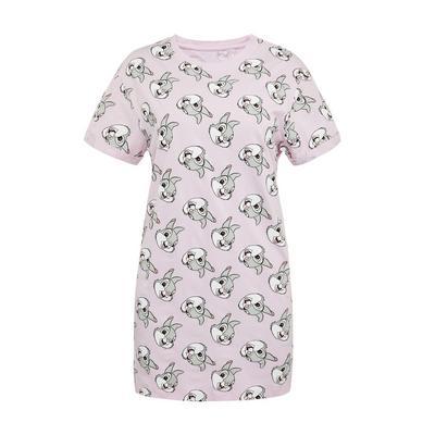 Camisa noite estampada Tambor Disney cor-de-rosa