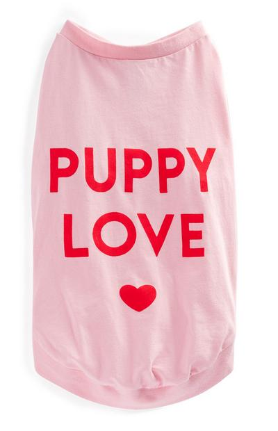 Pink Valentines Pet T-Shirt