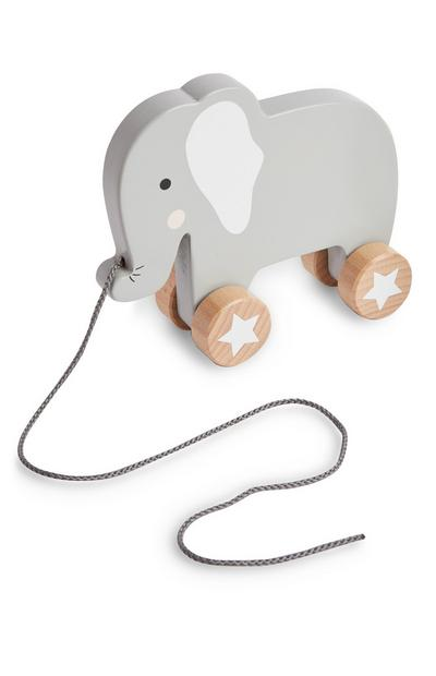 Baby Wooden Pull A Long Elephant