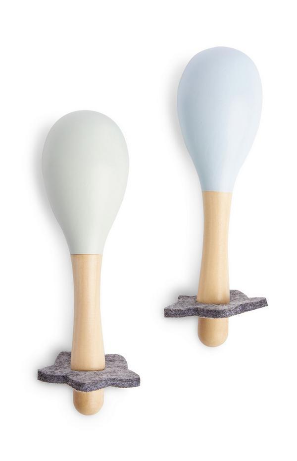 Maracas giocattolo in legno da bimbo