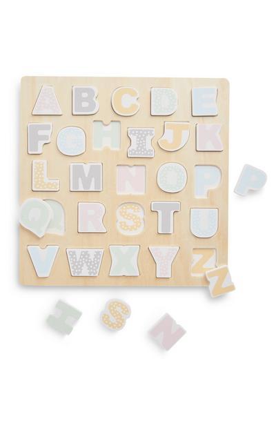 Rompecabezas del alfabeto de madera para bebé