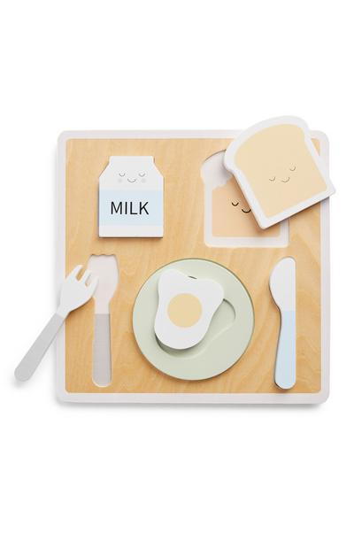 Baby Wooden Breakfast Toy Set