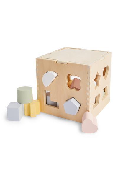 Sortierwürfel aus Holz für Babys