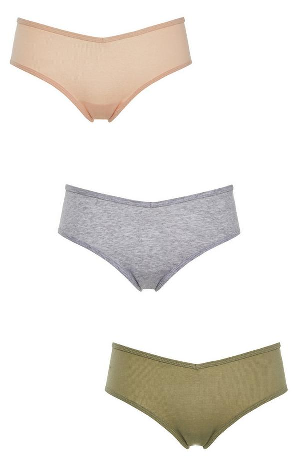 3-Pack Multi Hipster Core Briefs