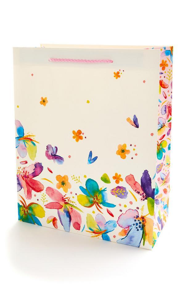 Multi Floral Gift Bag