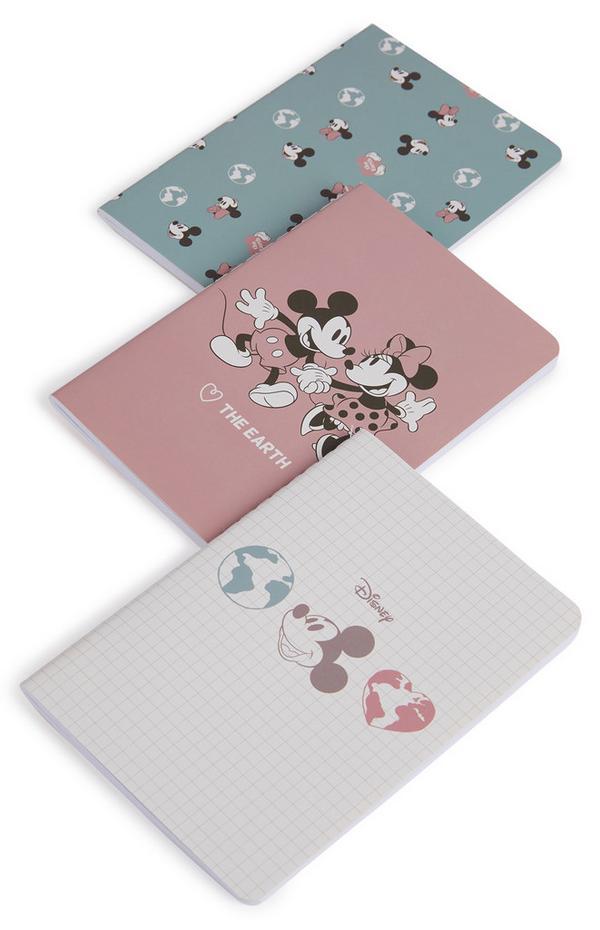 Lot de 3 carnets A6 Primark Cares Disney