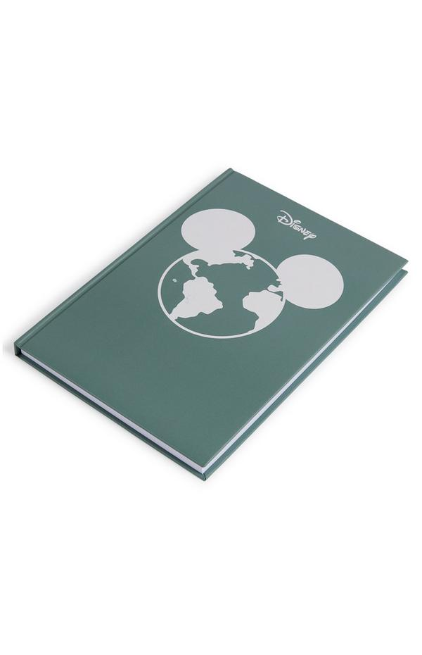 Primark Cares Featuring Disney Green A5 Hard Notebook