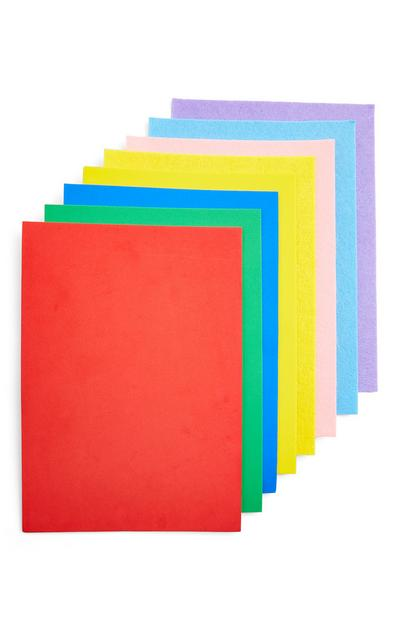 Multicolour A4 Foam And Felt Sheets