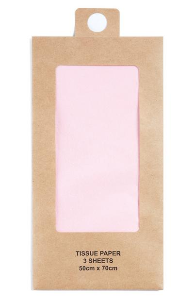 Pink Tissue Paper 3 Sheets