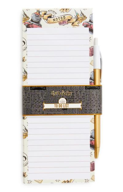 Bloc To Do List Harry Potter avec stylo