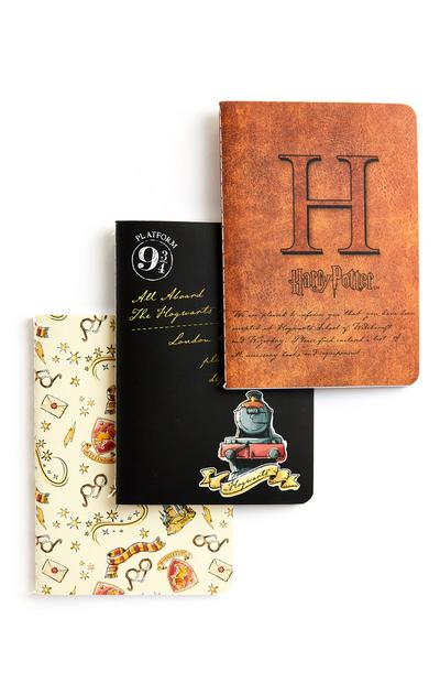 Lot de 3 carnets A6 Harry Potter