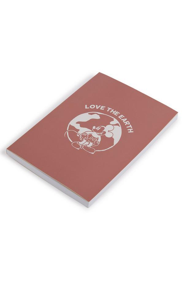 Zacht roze A5-notitieboekje Primark Cares met Disney