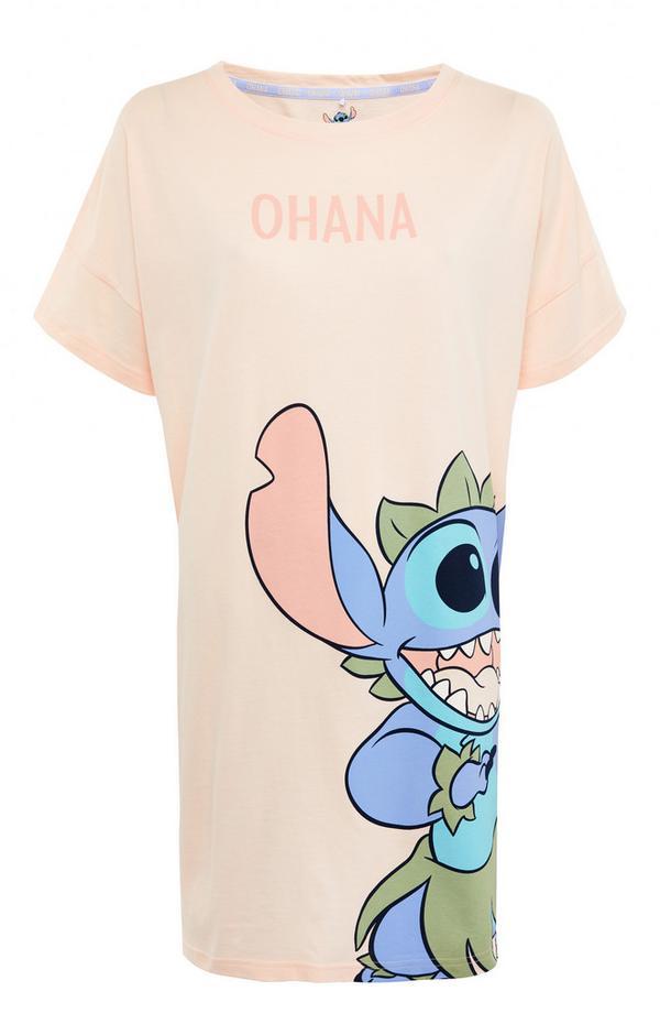 Perzikroze nachthemd Disney Stitch