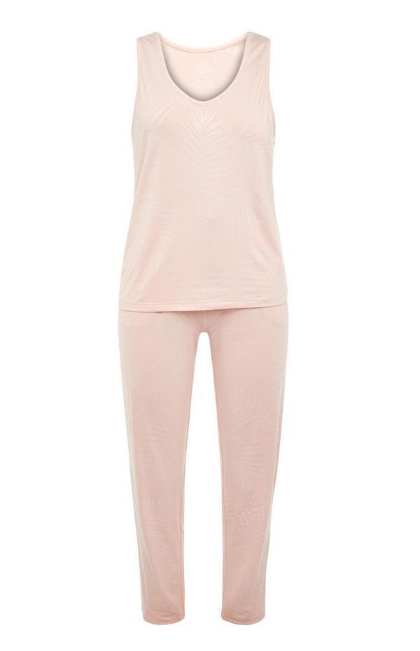 Blush Pink Vest And Leggings Pyjama Set