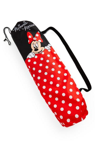 Tapis de yoga rouge Disney Minnie Mouse