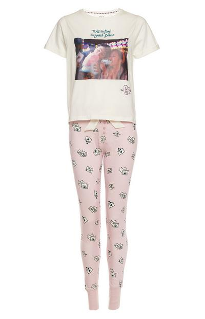 To All The Boys Pink Pastel Pajama Set