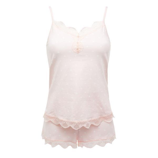 Blush Cotton Stretch Short Pajamas Set