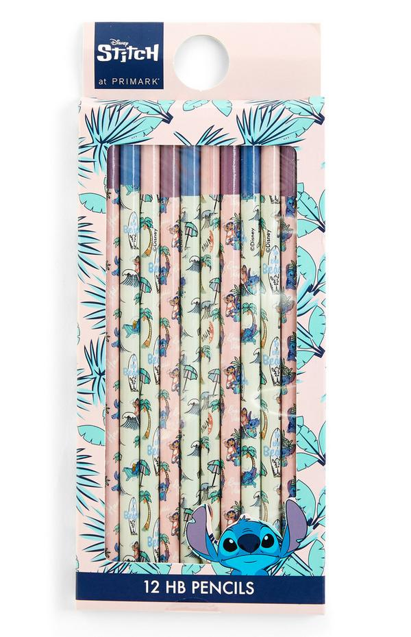 Pink Lilo And Stitch Pencils 12 Pack
