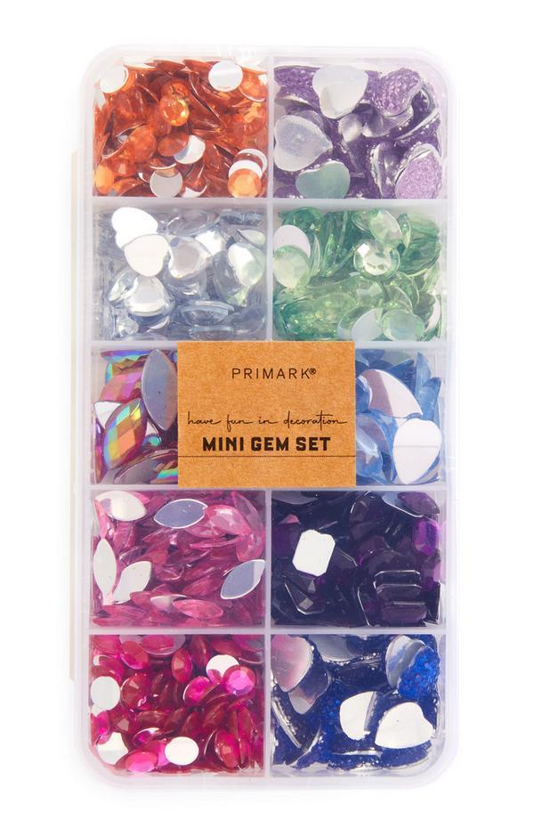 Craft Multicolour Mini Gem Set