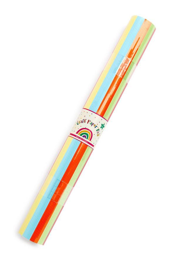 Rotolo con 30 fogli di carta multicolore per bricolage