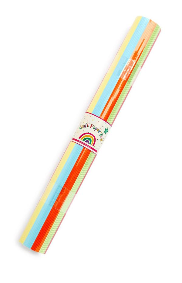 Meerkleurig knutselpapierrol, 30-delig
