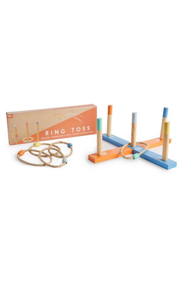 Kids Wooden Ring Toss Game Set