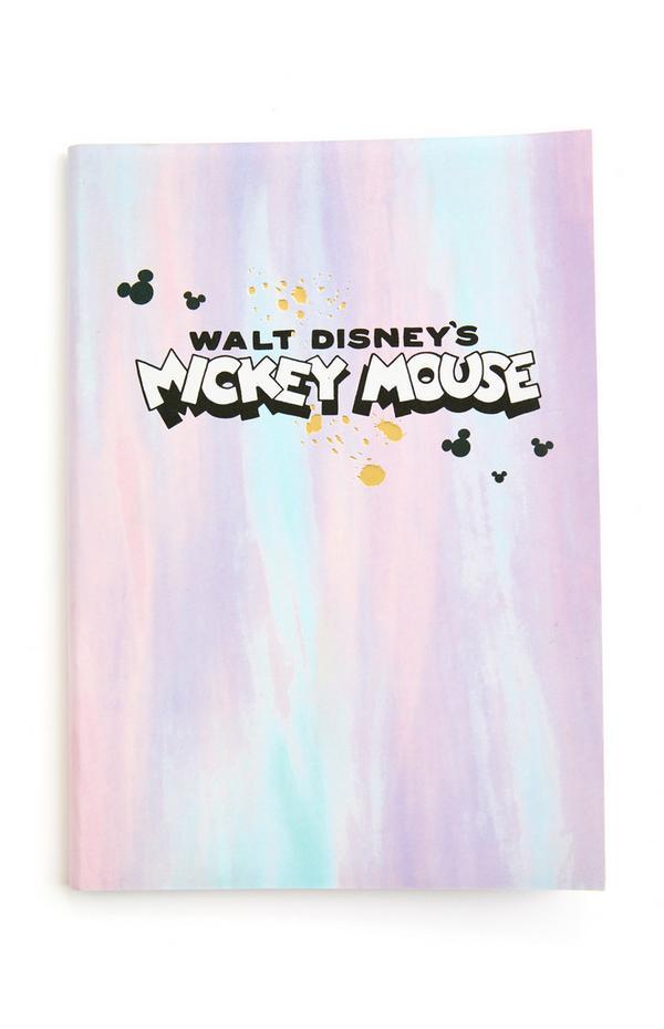 Bloco notas capa mole A5 Disney Mickey Mouse tom pastel