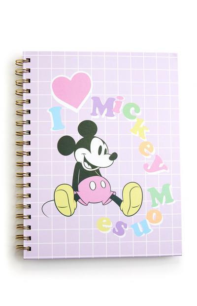 Bloco notas espiral B5 Disney Mickey Mouse cor-de-rosa