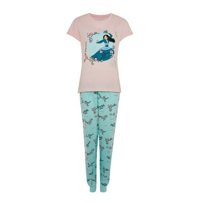 Blue Disney Mulan Pyjamas Set
