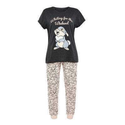 Charcoal Disney Thumper Print Pyjamas Set