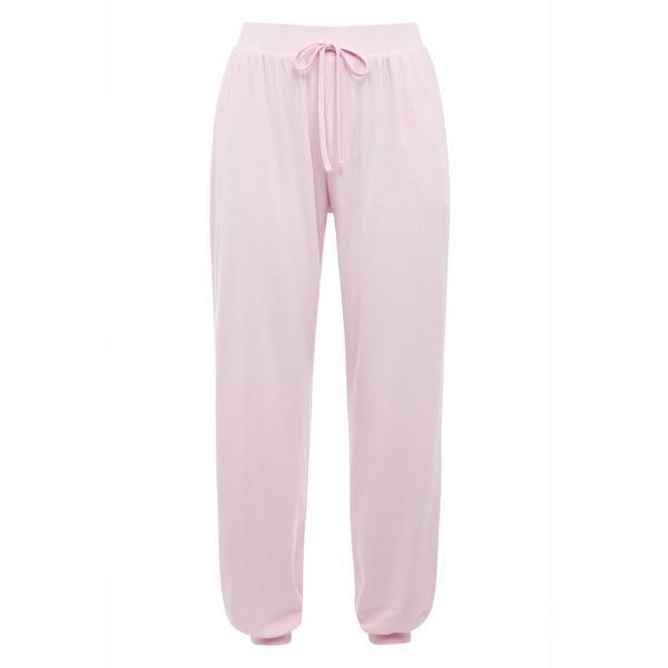 Pink Ribbed Jersey Leggings