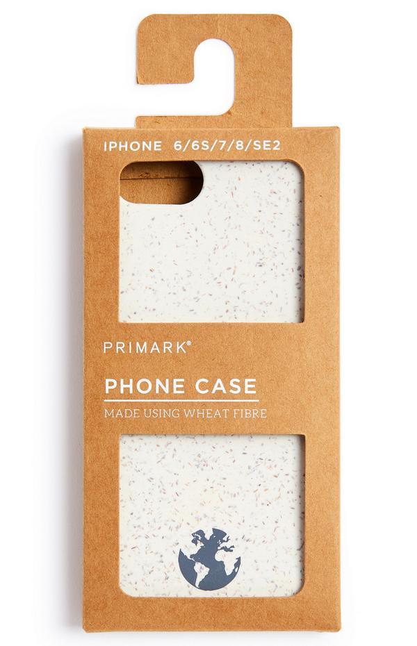 Coque de téléphone couleur naturelle en fibre de blé