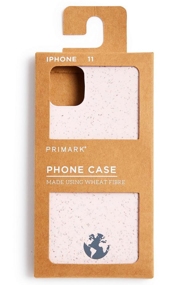 Coque de téléphone rose pâle en fibre de blé