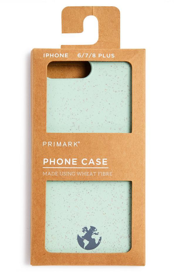 Coque de téléphone vert pâle en fibre de blé
