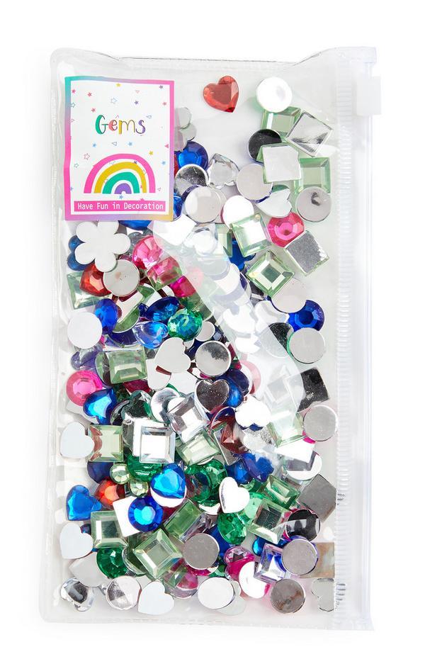 Multicoloured Sequin Gems Pack
