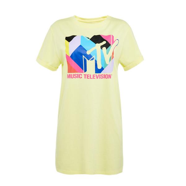 Yellow MTV Print Nightshirt