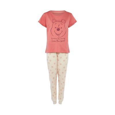 Coral Winnie The Pooh Pajama Set