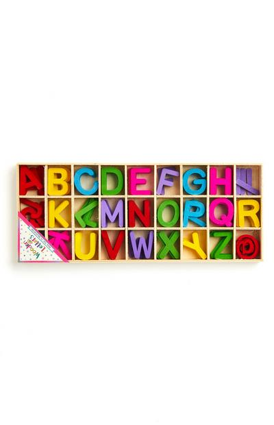 Crafting Coloured Wooden Letters