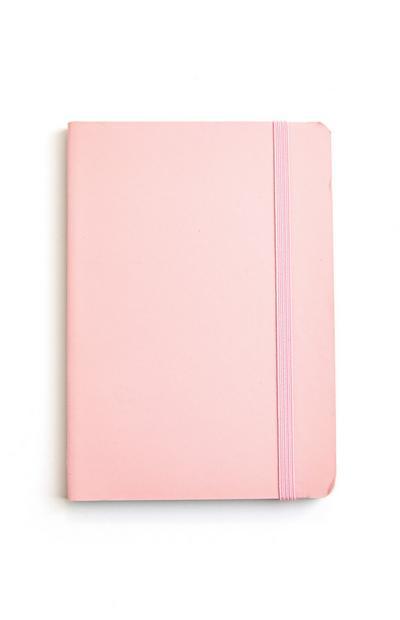 Bloco notas A6 cor-de-rosa
